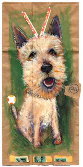 Doggy Bag, Doggy Bag, Pet Portrait, family portraits with pets, pet portraits nyc, custom pet portraits etsy, custom pet portrait, Terrier,